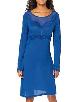 Lovable Women's Bluette Flowers Nightgown Nightie, Blue 00r, X-Large