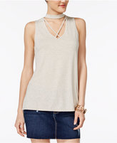 Ultra Flirt Juniors' Gigi Crisscross Tunic Tank Top