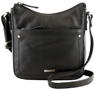 Joan Weisz JWQ104 Idyll Zip Top Black Crossbody Bag