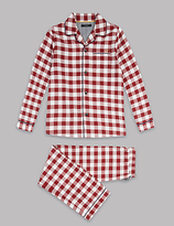 Autograph Pure Cotton Gingham Pyjamas (1-16 Years)