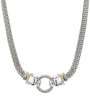 Bloomingdale's Marc & Marcella Diamond Panther Necklace in Sterling Silver & 14K Gold-Plated Sterling Silver, 0.4 ct. t.w. - 100% Exclusive