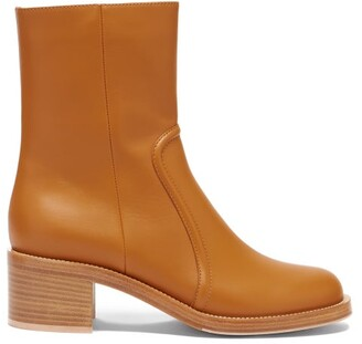 Gianvito Rossi Leather Ankle Boots - Tan