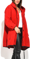 Everest Red Hooded Swing Coat - Plus Too