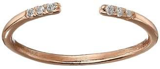 Shashi Ava Ring with Crystal Stones (Rose Gold/Crystal) Ring
