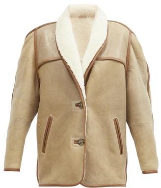 Etoile Isabel Marant Anawa Shearling Jacket - Beige