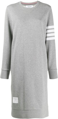 Thom Browne 4-Bar stripe jumper dress