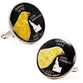 Penny Black 40 Hand Painted Idaho State Quarter Cufflinks