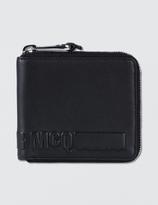 McQ by Alexander McQueen Embossed Zip Wallet