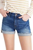 Madewell Women's High Rise Cuffed Denim Shorts