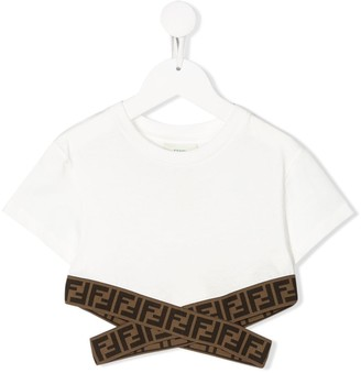 Fendi logo tape cropped T-shirt