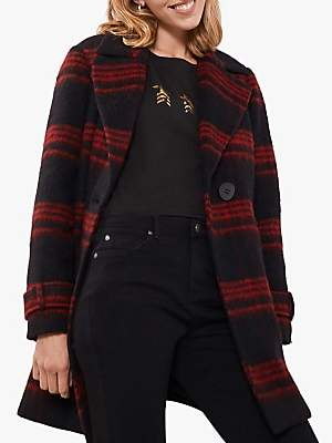 Mint Velvet Lumberjack Check Short Coat, Multi