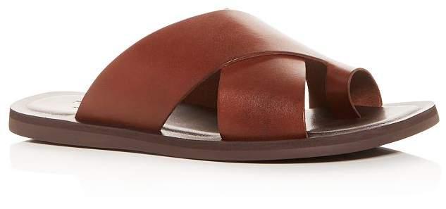 Kenneth Cole Men's Ideal Leather Toe-Ring Slide Sandals