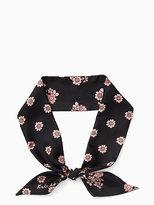 Kate Spade Reversible mixed ditzy silk skinny scarf