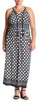 Sandra Darren Jersey Pattern Maxi Dress (Plus Size)
