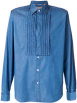 Burberry pleated bib shirt