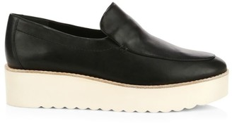 Vince Zeta Leather Platform Loafers