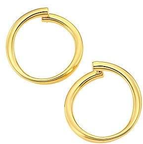 Roberto Coin Women's Designer 18K Yellow Gold Front-Facing Hoop Earrings