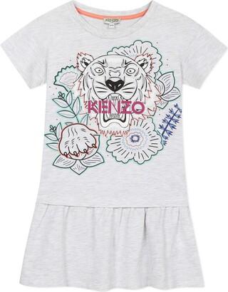 Kenzo Multi Iconic Graphic Dress