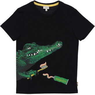 Paul Smith Crocodile Print Cotton Jersey T-shirt