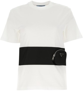 Prada Pouch Band Jersey T-Shirt