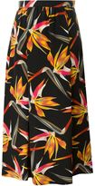Fendi orchid print skirt - women - Silk - 44