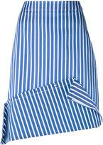 Ports 1961 striped asymmetric skirt - women - Silk/Cotton/Polyester - 40