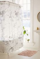 Urban Outfitters Black + White Marble Shower Curtain