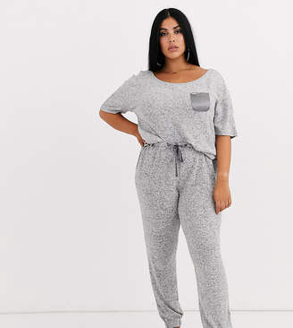 Figleaves Curve lounge pant in grey marl