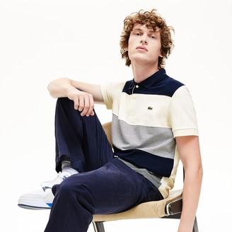 Lacoste Men's Regular Fit Paneled Color-Blocked Polo Shirt
