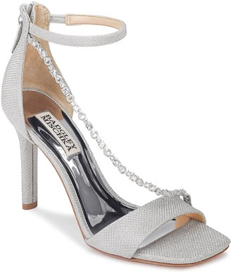 Badgley Mischka Erika Crystal Cross Strap Sandal