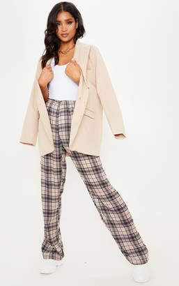 ASA Trad Stone Based Check Wide Leg Trouser