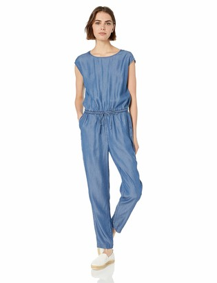 Daily Ritual Tencel Short-Sleeve Jumpsuit Medium Wash US 10 (EU M - L)