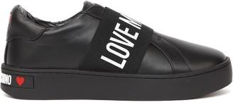 Love Moschino Black Nappa Logo Band Sneaker