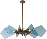 Heathfield & Co Lorne Pendant Lamp Large Venetian Blue