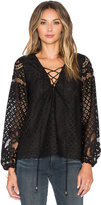 Tularosa x REVOLVE Lace Up Blouse