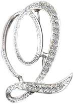 L'vow Clear Crystal Script Initial 26 Letter A - Z Brooch pin