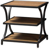 Baxton Studio Lancashire 2 Shelf End Table in Oak Brown and Black