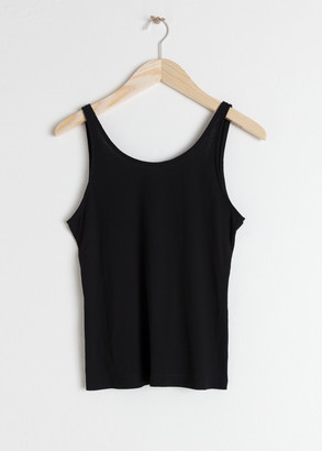 And other stories Fitted Scoop Back Tank Top