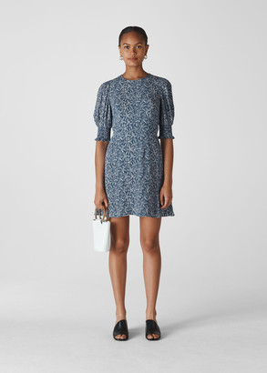 Josefina Etched Print Dress