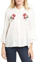 Cupcakes And Cashmere Women's Kymberly Embroidered Blouse