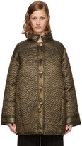 See by Chloe Green Short Quilted Bisou Coat
