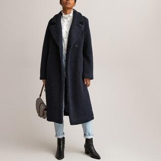La Redoute Collections Long Faux Fur Teddy Coat