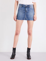 Paige Alethea frayed-hem denim mini skirt