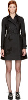 Valentino Black Butterfly Trench Coat
