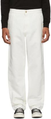 Carhartt Work In Progress White Single Knee Pants