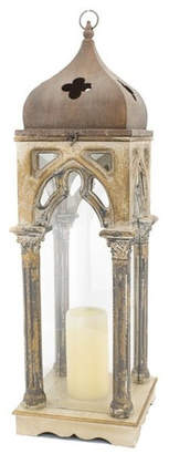 Church's Zaer Ltd Large French Style Wooden Lantern