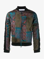 James Long Paisley Bomber Jacket