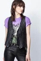 Zadig & Voltaire Emilie Crinkle Leather Jacket