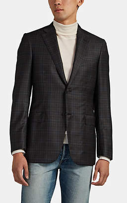 Brioni Men's Ravello Plaid Worsted Wool Two-Button Sportcoat - Medium Gray