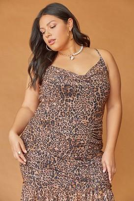 Forever 21 Plus Size Leopard Print Mini Dress